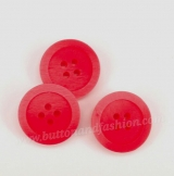 CS02 Plastic Button -  bright red -   Faux Seashell clothing button