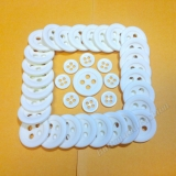 CS05 Plastic Button - square and circle -   Polyester Chalk Button