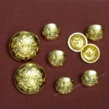 CS08 Metal Gold Shank Button - Dome -