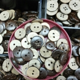Natural Coconut 2-hole Button -