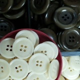 Natural Corozo 4-hole Button -