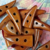 Natural Wooden Toggle 2-hole Button -