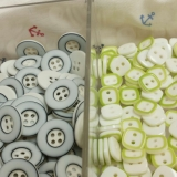 Plastic mixed colour button -