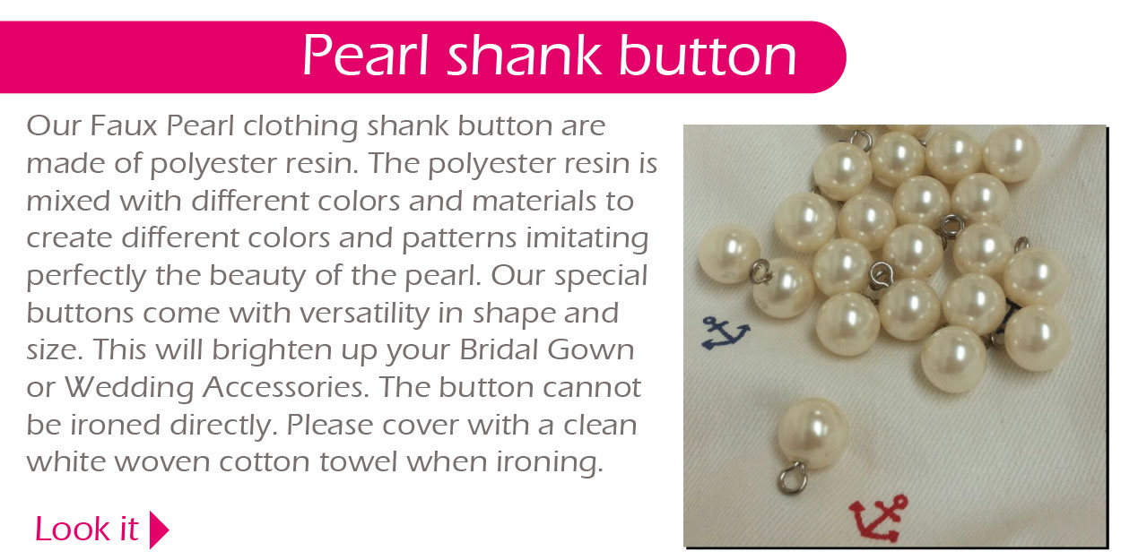 Pearl shank button