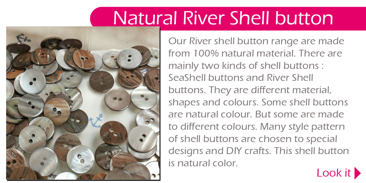 Natural River Shell button